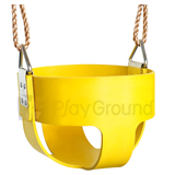 Rubber Full Bucket Swing Seats with Rope