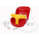 Plastic High-Back Baby Swing Seat with Rope