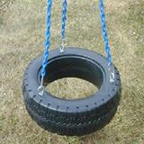 Plastic Tire Swing with Chain